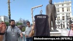 Протест на МАН (Македонска асоцијација на новинари) пред Основно јавно обвинителство