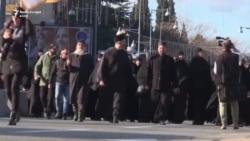 Në Podgoricë protestohet kundër projektligjit për pronat e kishës