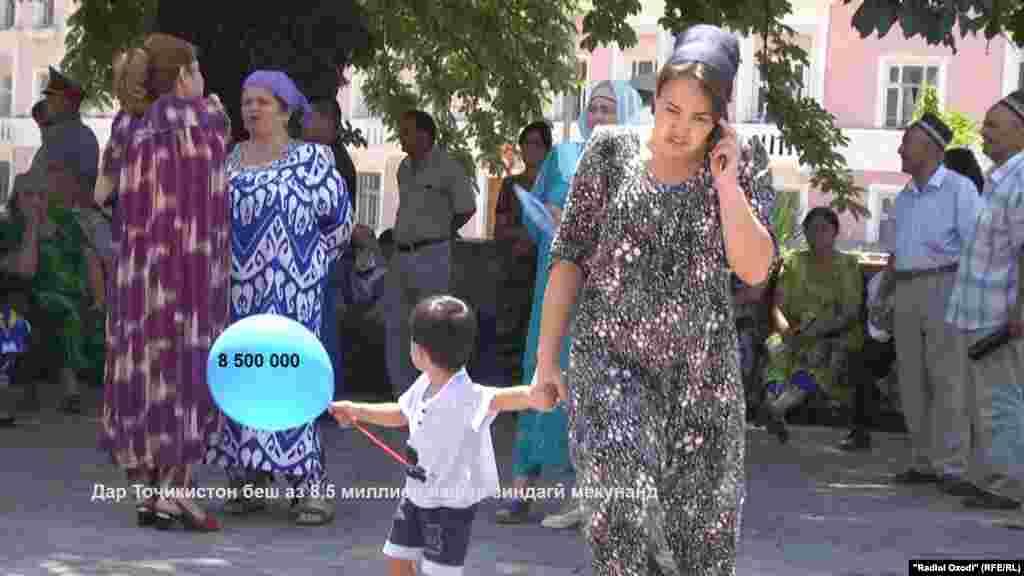 Дар 142 ҳазор километри мураббаъ қаламрави Тоҷикистон беш 8,5 миллион нафар ба сар мебаранд.