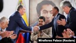 Встреча руководителей «Роснефти» и венесуэльской государственной нефтяной компании (архивное фото).
