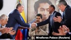 Зустріч керівників «Роснефти» і венесуельської державної нафтової компанії (архівне фото)