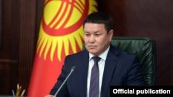 Speaker of the Jogorku Kenesh Talant Mamytov 15-December 2020