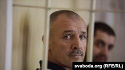 Суд на Япрынцавымі. Уладзімер Япрынцаў у залі суду. Менск, 23 жніўня 2016 году