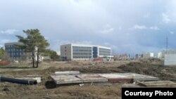 Строительство на бывшем дачном участке №131 насосной станции ливневой канализации в Астане.