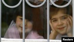 Воспитанники детского дома в российском городе Ростов-на-Дону. 19 декабря 2012 года.