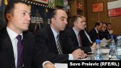 Premijer Igor Lukšić na sastanku sa predstavnicima sindikata i ministrima