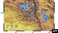 موقع الهزة الأرضية في مدينة فان التركية
