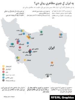 Pashto Iran Protests Infographic