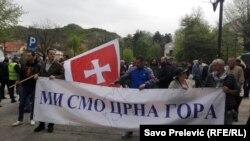 Protest protiv NATO na Cetinju