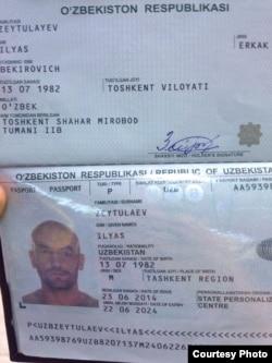 Ilyos Zeytullaev pasporti