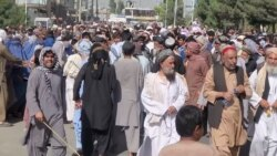 Afghans In Kandahar Protest Against Evictions By Taliban