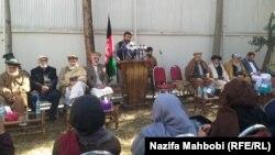 بزرگان قومی میدان وردک در کنفرانس خبری درکابل