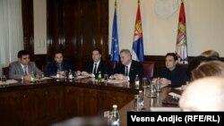 Predsednik Srbije Tomislav Nikolić sa predstavnicima kosovskih Srba, 20. decembar 2012.