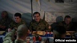 Президент Грузии во время визита в Афганистан