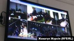 Судебное заседание по делу обвиняемых в хищении нефти на мониторе. Актобе, 16 февраля 2018 года.