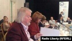 На конференции Европейского альянса независимых советов по делам прессы. Москва, 6 октября 2011 год.