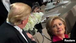 Hillary Clinton și Donal Reagan în 2016