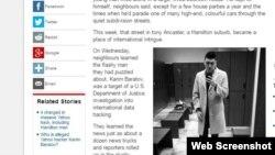 Публикация на канадском сайте о задержании уроженца Казахстана Карима Баратова в Онтарио. 17 марта 2017 года.
