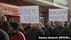 Protest radnika FAP-a, Priboj, 25.februar 2016.