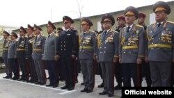 Руководящий состав таджикской милиции.