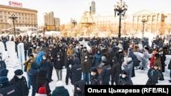 Протесты в Хабаровске 23 января