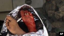 جسد یک سرباز افغان