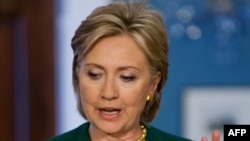 """U.S. Secretary of State Hillary Clinton: """"We are, you know, really nowhere."""""""