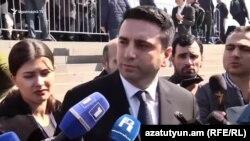 Вице-спикер парламента Армении Ален Симонян, Ереван, 24 апреля 2019 г.