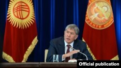 Алмазбек Атамбаев. 27 декабря 2014 года.