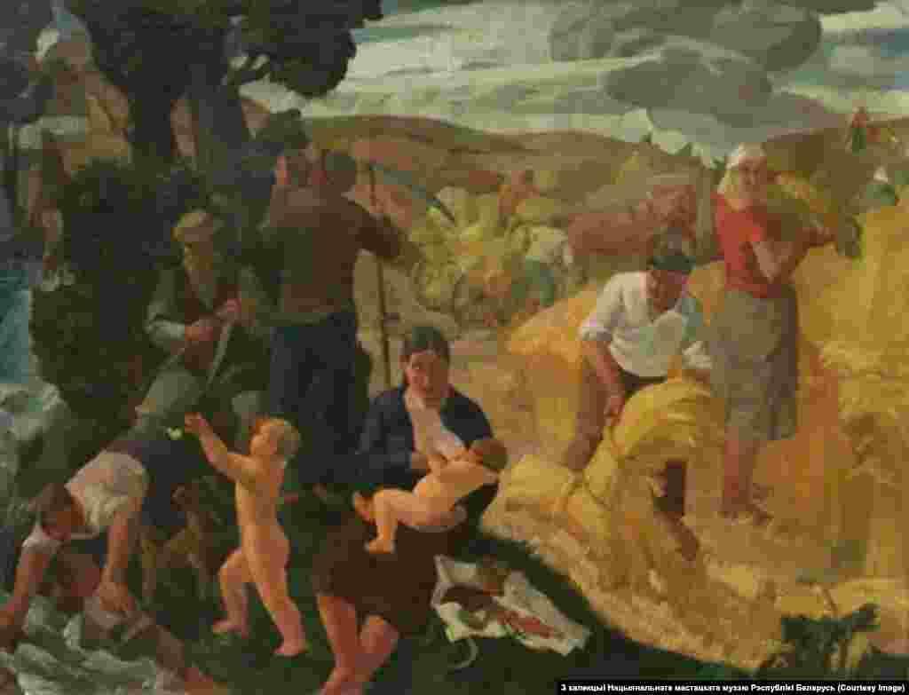 Міхась Сеўрук.Жніво. 1937