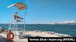 Пляж «Хрустальный» в Севастополе, иллюстрационное фото