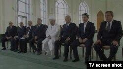 """Toshkentda """"Minor"""" masjidi ochilish marosimidan hozirlangan ko'rsatuvidan olingan surat."""