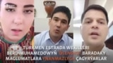 Türkmen sahnasynyň wekilleri prezident hakyndaky 'ýalan geplere' ynanmazlyga çagyrýar