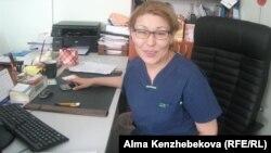 Руководитель маммологического центра города Алматы Шынар Талаева. Алматы, 5 мая 2014 года.