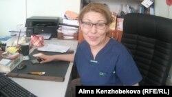 Алматы қаласындағы маммологиялық орталық басшысы Шынар Талаева. 5 мамыр 2014 жыл.