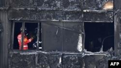 Prizor nakon velikog požara Grenfell Towera, London