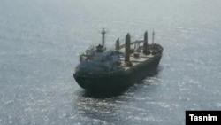 تصویری که خبرگزاری تسنیم، نزدیک به سپاه پاسداران، از کشتی ساویز منتشر کرده است