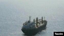 تصویری که خبرگزاری تسنیم، نزدیک به سپاه پاسداران، از کشتی هدف قرار گرفته ایرانی منتشر کرده است.