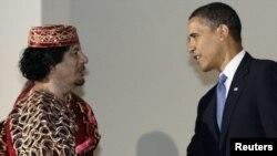 Два года назад, на саммите «большой восьмерки» Каддафи еще считался рукопожабельным