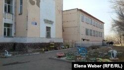 Здание экошколы № 16 в Темиртау. 14 ноября 2017 года.