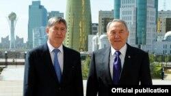 Визит президента КР Атамбаева в Казахстан, Астана, 10 мая 2012 года.