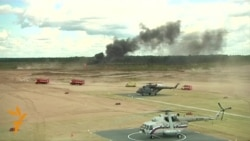 Russian Military Helicopter Crashes At Air Show