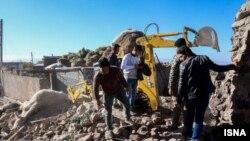 تصویری از مناطق زلزلهزده استان آذربایجان شرقی