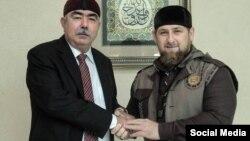 General Abdul Rashid Dostum (sol) və Ramzan Kadyrov, Qroznı, 5 oktyabr 2015