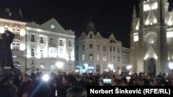 Protest u Novom Sadu, foto: Norbert Šinković