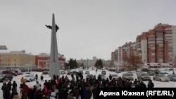 Экологический митинг в Омске, 26 января 2020 г.