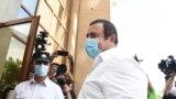 Гагик Царукян у здания суда, 21 июня 2020 г.