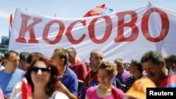 Протестное выступление в Белграде 10 мая