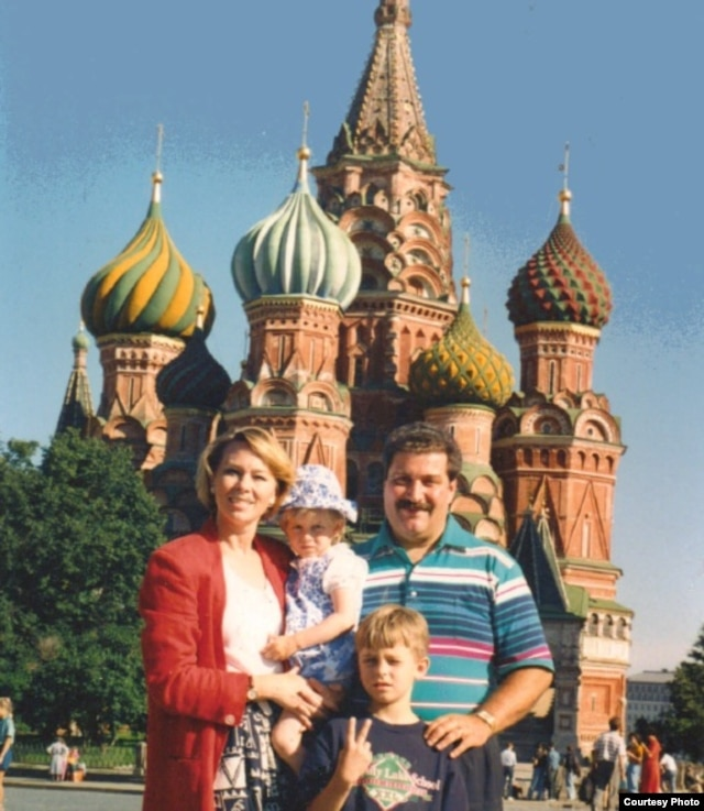 The Wondra family in Moscow in 1994 after their adoption