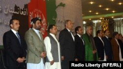 Members of the Afghan Electoral Alliance meeting in August.
